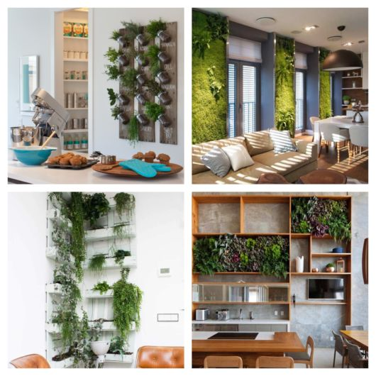 As mais variadas ideias com a utilização de materiais versáteis, tudo para criar um jardim vertical impecável