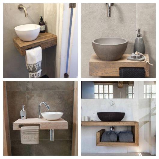Modelos compactos são indicados para lavabos