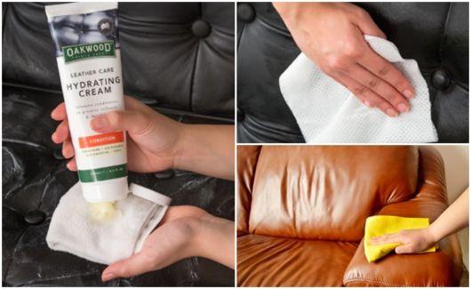 como hidratar sofá de couro