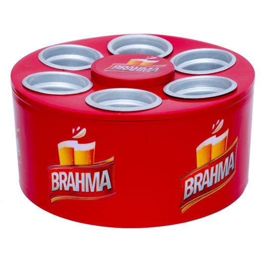 Versão compacta para seis latas de cerveja