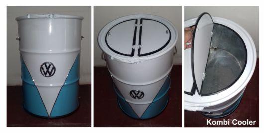 Linda versão de lata sofisticada em branco e azul