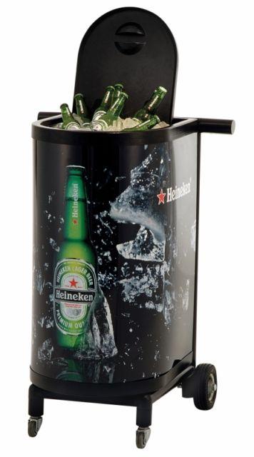 Uma versão alta e sofisticada do cooler com a marca Heineken
