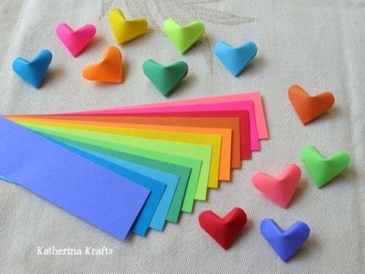 corações coloridos