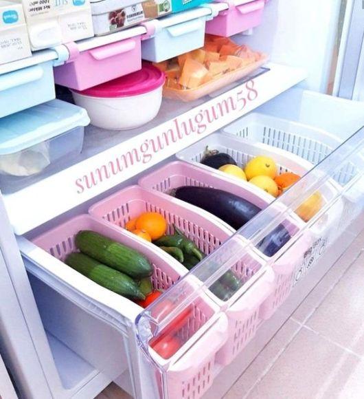 organização geladeira
