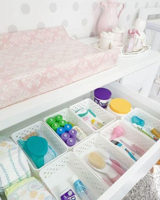 como organizar gaveta bebê