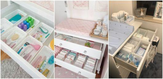 dicas de organização quarto bebê