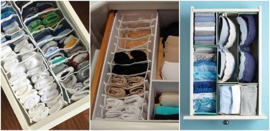 dicas de como arrumar gaveta roupas íntimas