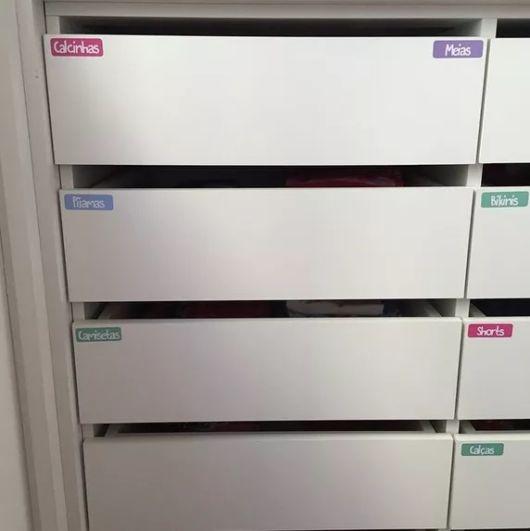gavetas com nome
