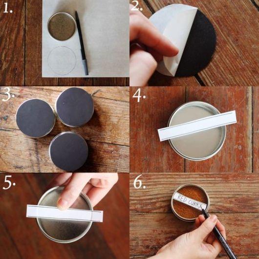 DIY porta tempero magnético