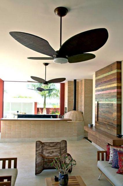 ventilador de madeira moderno
