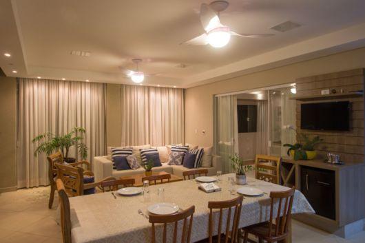 sala com sala de jantar