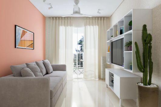 parede rosa na decoração