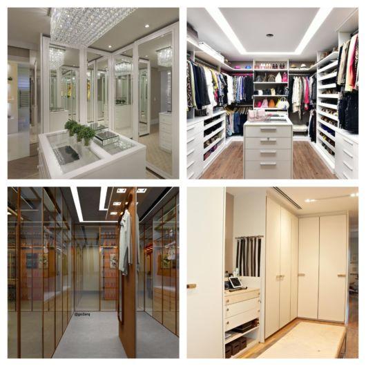 Projetos de closet luxuoso com portas