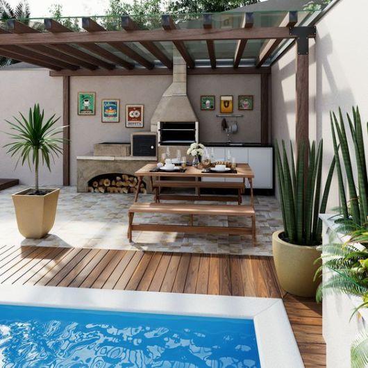 varanda gourmet com piscina pequena