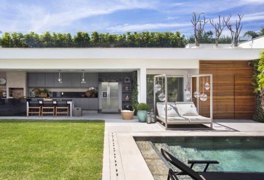 Panorama de de varanda gourmet moderna