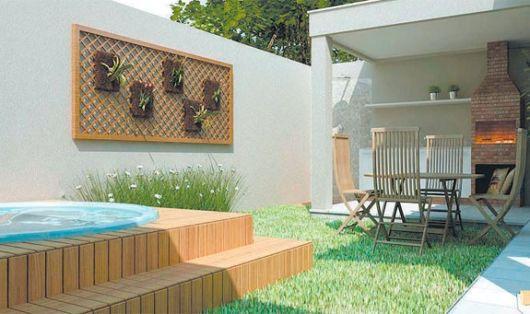 varanda gourmet com piscina e jardim vertical