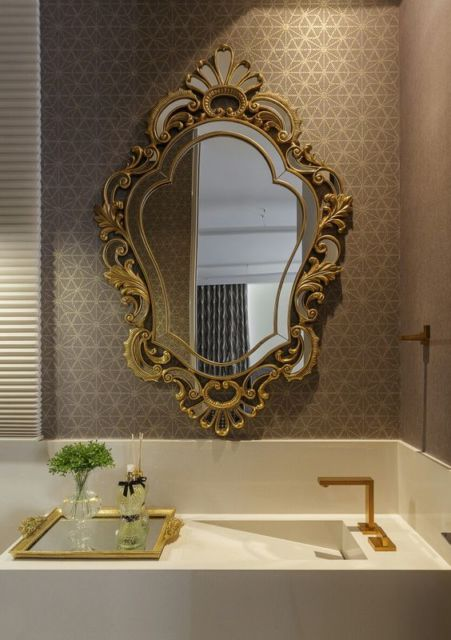 lavabo de luxo decorado