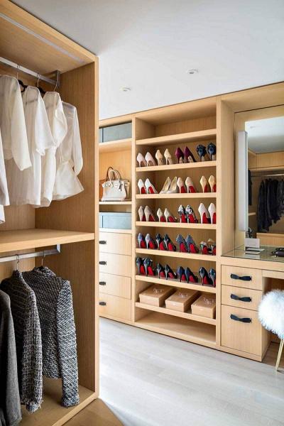 closet luxuoso moderno