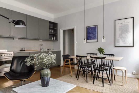 como decorar apartamento pequeno sala de jantar embutida