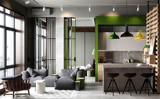 como decorar apartamento pequeno sala e cozinha