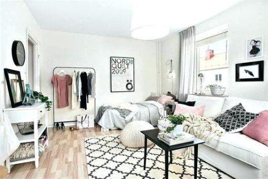 como decorar apartamento pequeno preto e branco