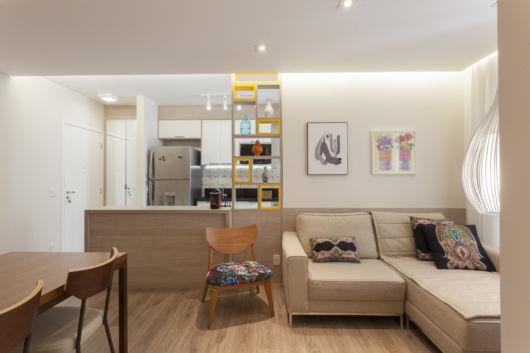 integração de áreas sociais decorar apartamento pequeno