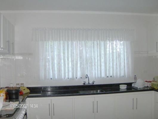cortina com bandô cozinha