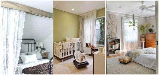 modelos de cortina para quarto