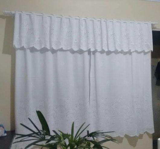 cortina branca com forro