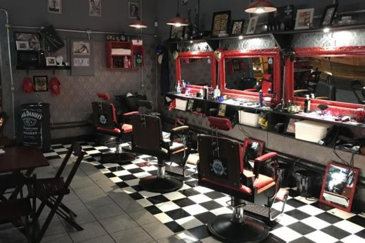 barbearia decorada