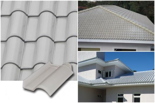 telhado cinza