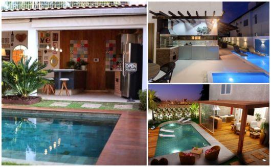diversas ideias de varanda gourmet com piscina