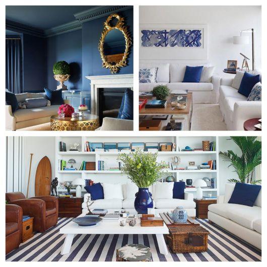 Diferentes formas de usar azul-marinho na decoração com dicas e fotos!