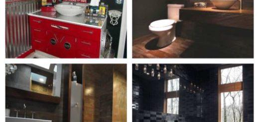 60 ideias de decoração de banheiro masculino
