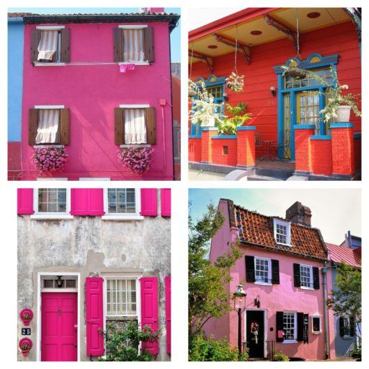 A fachada colorida pode renovar e transformar a aparência de uma casa simples