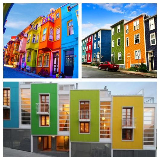 Lindas casas coloridas que encantam e inspiram!