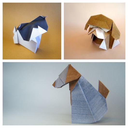 Você pode fazer cães diferentes com papéis de várias cores