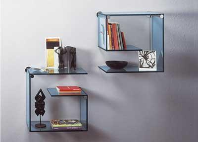 prateleira de vidro para quarto