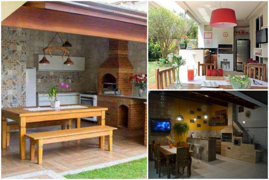 Área gourmet simples