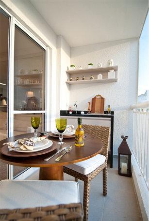 Espaço gourmet simples e pequeno
