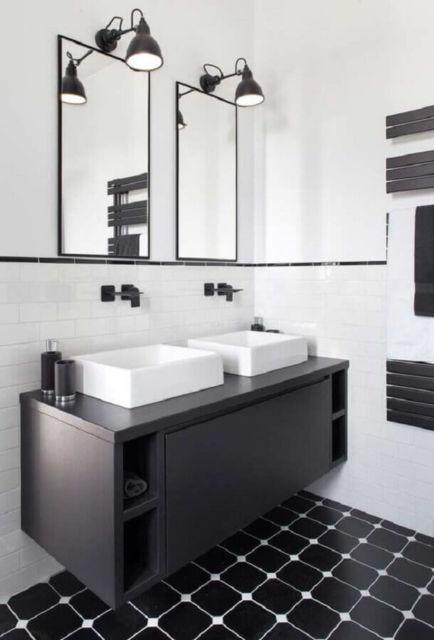 banheiro masculino preto