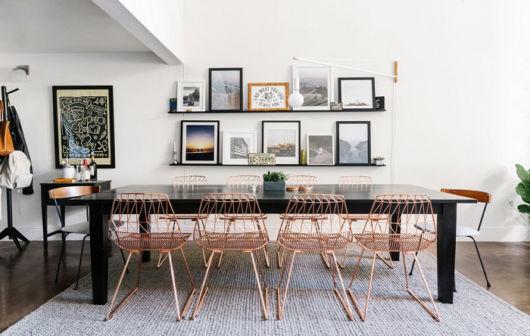 Cadeiras de aço brilhantes super modernasa