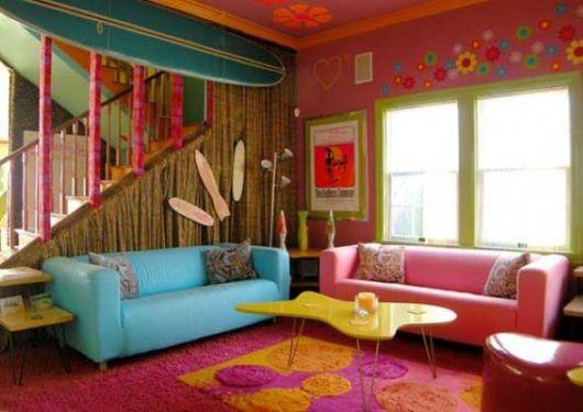 casas coloridas por dentro