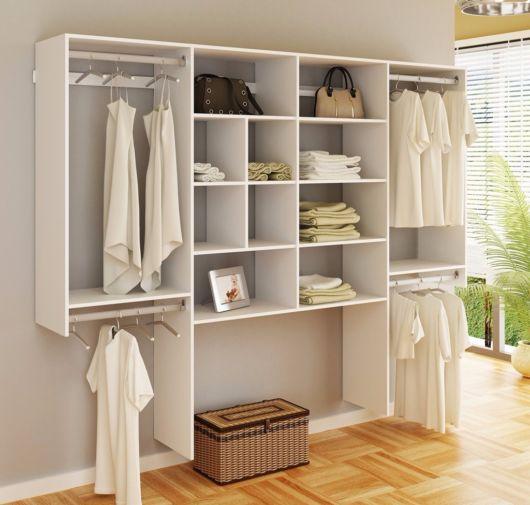 closet suspenso para quarto de casal