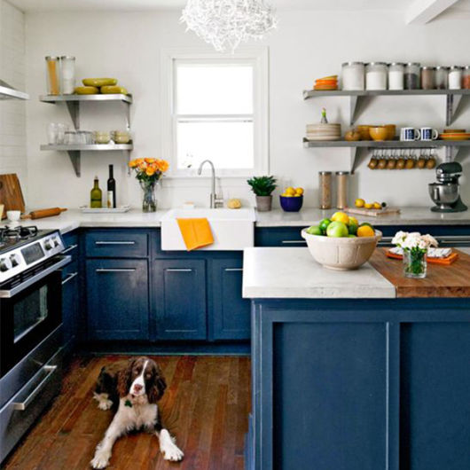 cozinha azul-marinho