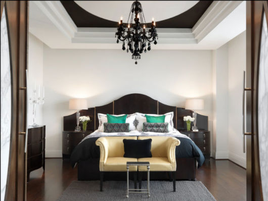 lustre preto para quarto