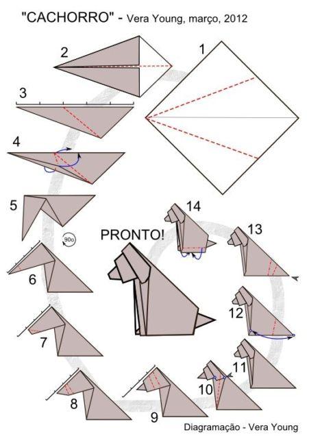 origami cachorro