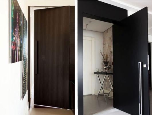 porta laqueada preta