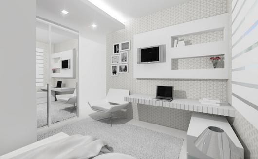 quarto branco casal