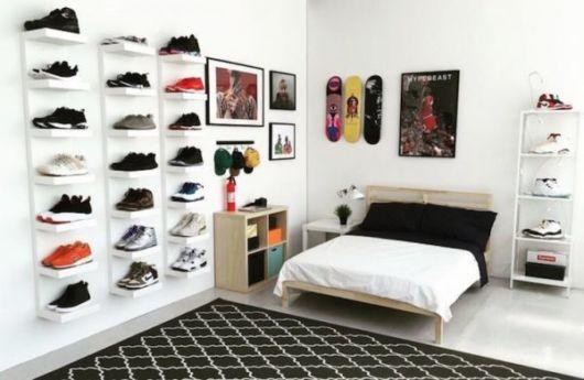 quarto branco masculino